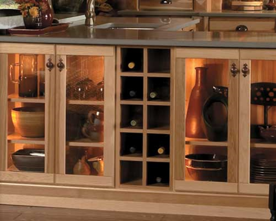 Slotted Wine Rack Cabinets