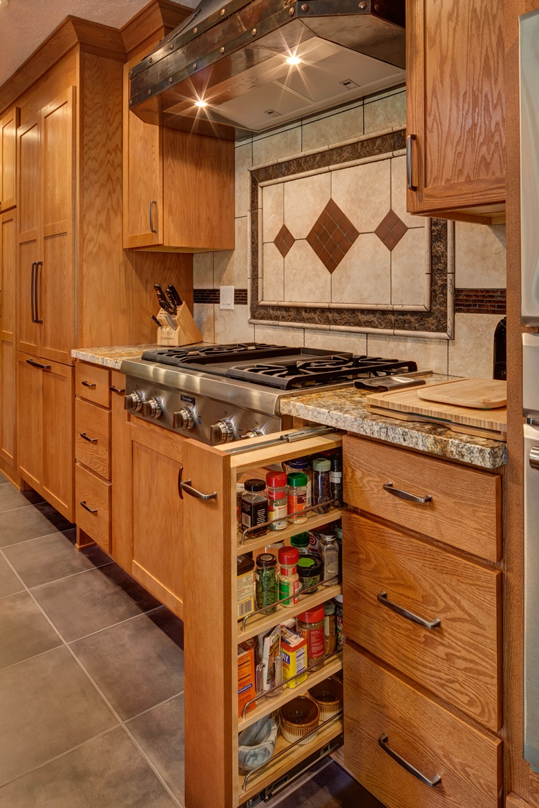 Spice Pull Out Cabinets