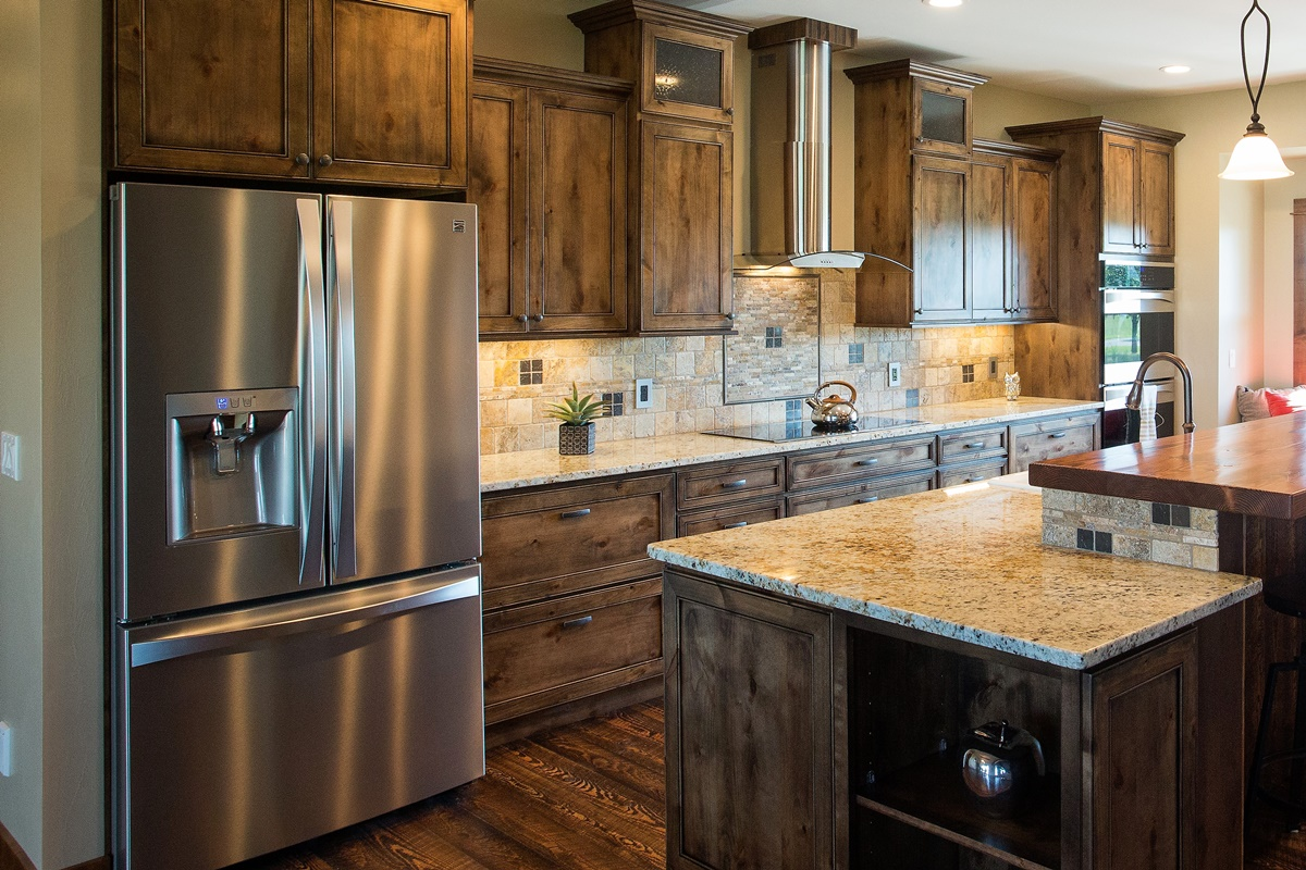 cabinet kitchen cabinets l paint alder knotty colors