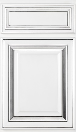 Chateau Maple Designer White paint, Onyx Glaze