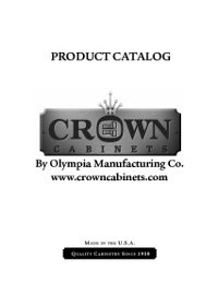Crown Cabinets Specifications